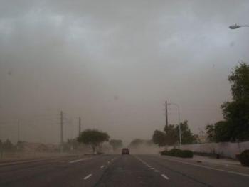 אריזונה - סופת חול באריזונה, יולי 2012 צילום שושנה ויג