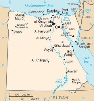 מפת מצרים