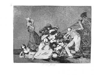 """כחיות פרא"""", איור מתוך """"מוראות המלחמה"""" מאת פרנסיסקו דה גויה, מסביבות 1810"""