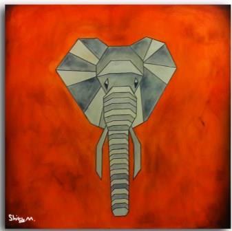 שירלי מימון, הפיל, שמן על קנווס, באדיבות: שירי מאיר