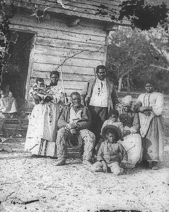 משפחת עבדים בדרום קרוליינה בתקופת מלחמת האזרחים